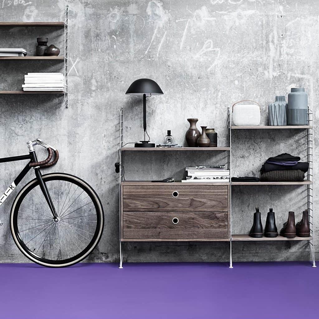 string regal schreibtisch wohn design. Black Bedroom Furniture Sets. Home Design Ideas